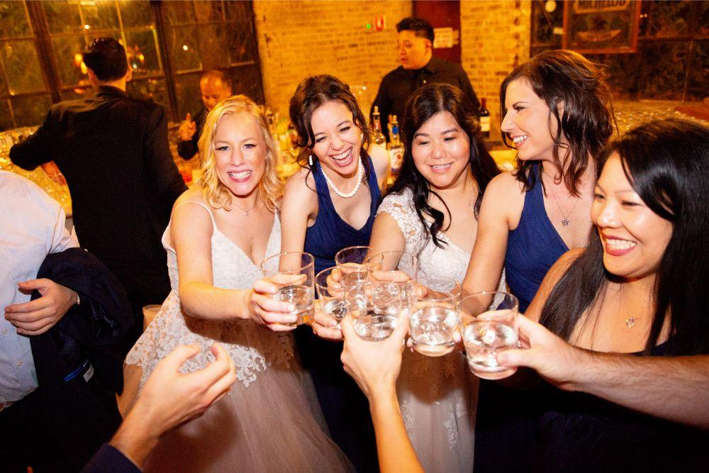 caitlin carolyn salvage one chicago wedding toast