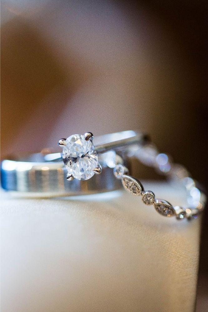 hilary bill galleria marchetti chicago, il wedding rings