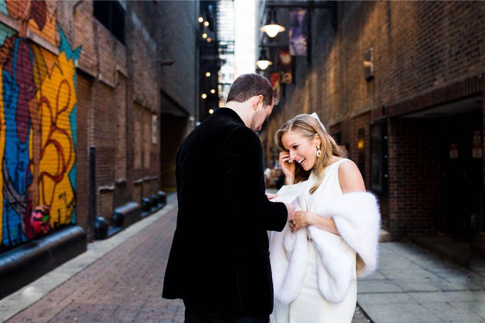 hilary bill galleria marchetti chicago, il wedding birde and groom portraits