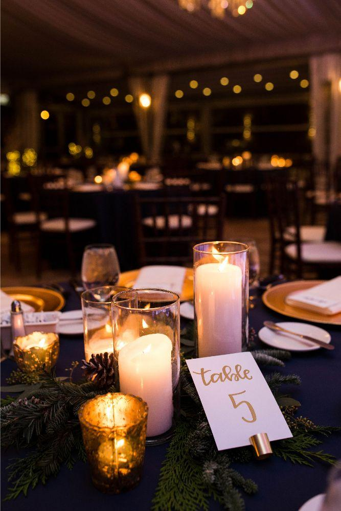 hilary bill galleria marchetti chicago, il wedding reception details table number