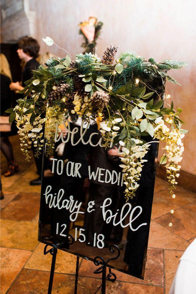 hilary bill galleria marchetti chicago, il wedding reception details welcome sign