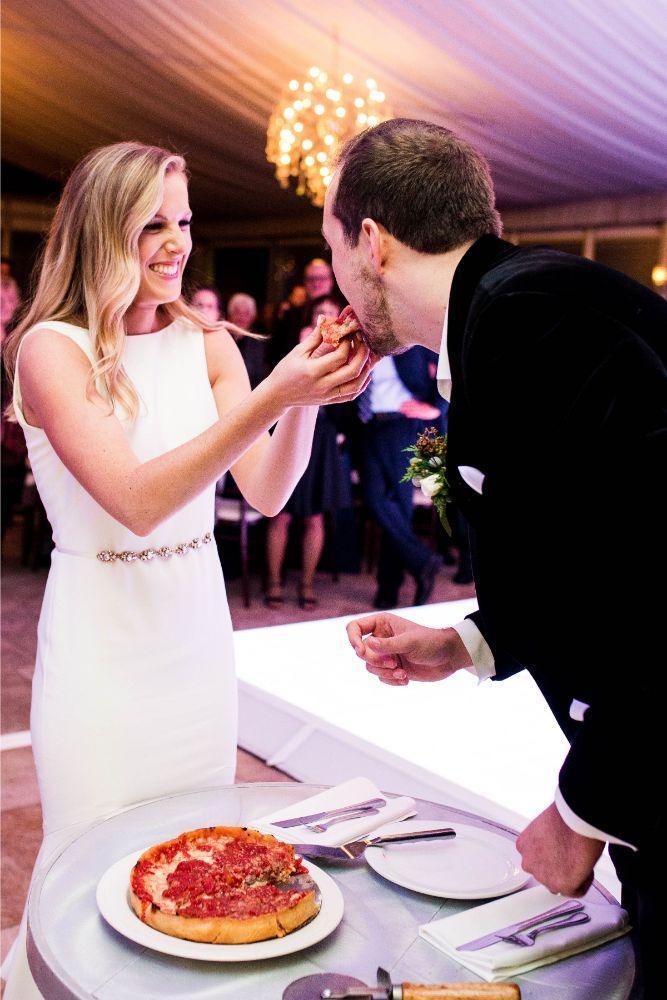 hilary bill galleria marchetti chicago, il wedding pizza