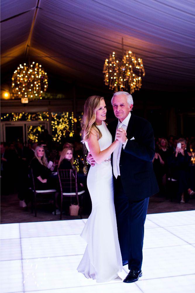 hilary bill galleria marchetti chicago, il wedding father daughter dance