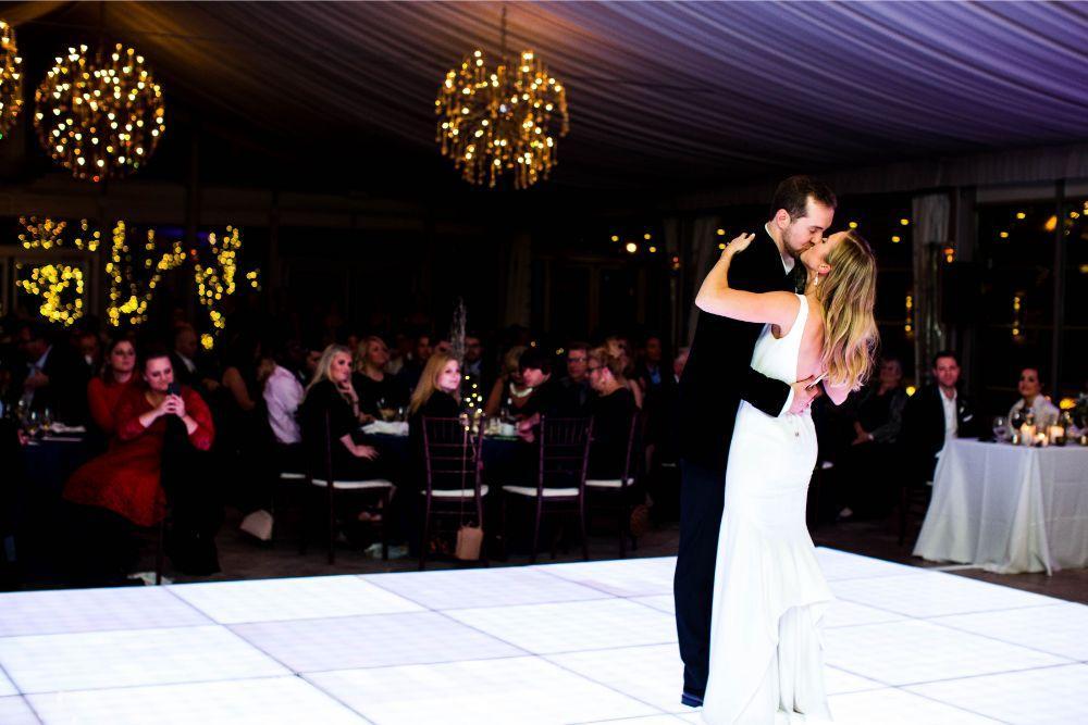 hilary bill galleria marchetti chicago, il wedding first dance bride and groom