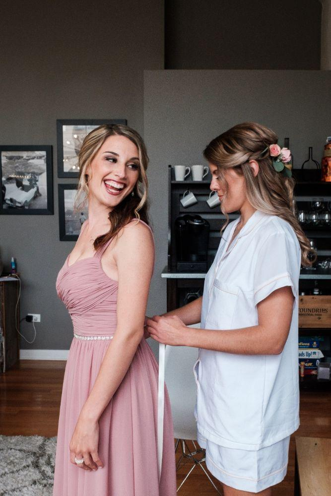 local love kaitlyn tom lacuna lofts chicago, il wedding bride bridesmaid getting ready