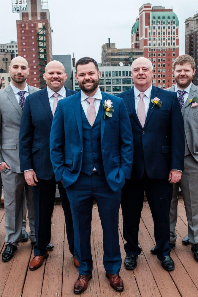 local love kaitlyn tom lacuna lofts chicago, il wedding groom and groomsmen