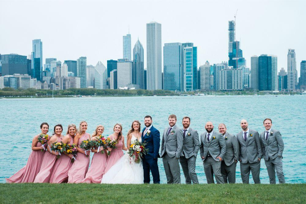 local love kaitlyn tom lacuna lofts chicago, il wedding bridal party