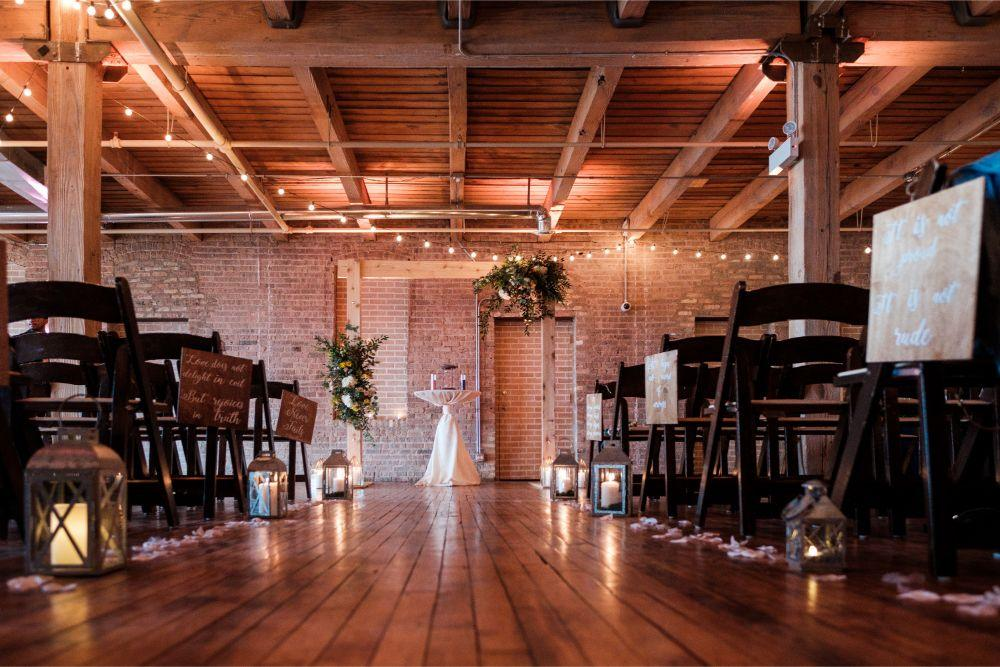 local love kaitlyn tom lacuna lofts chicago, il wedding ceremony