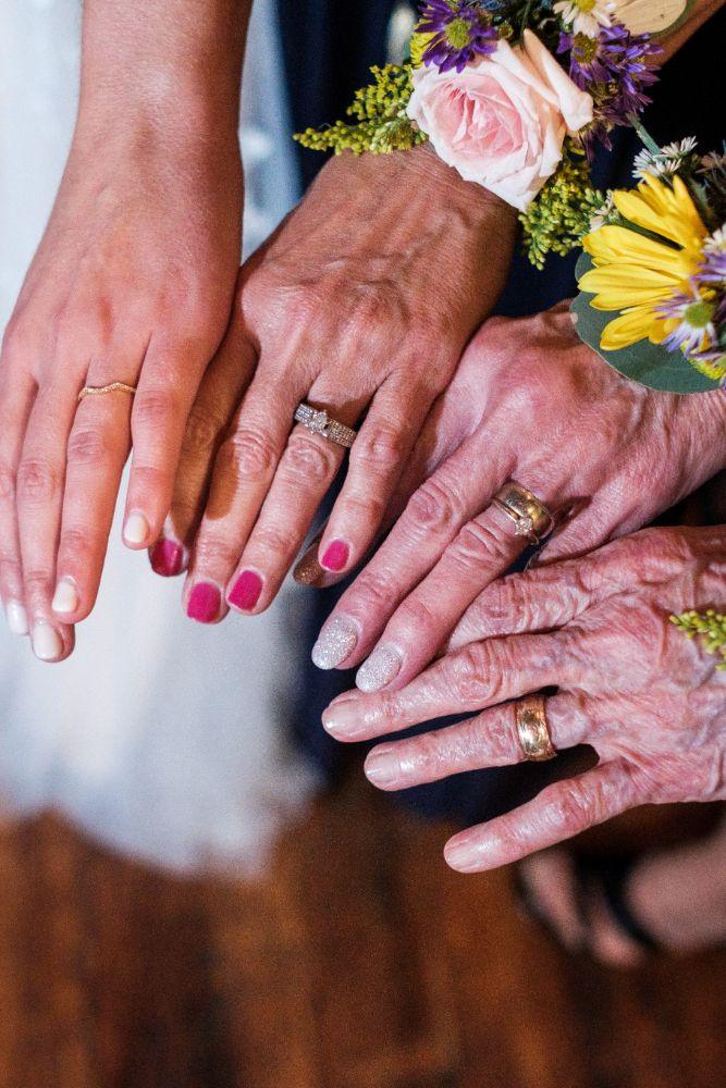 local love kaitlyn tom lacuna lofts chicago, il wedding four generations of wedding rings