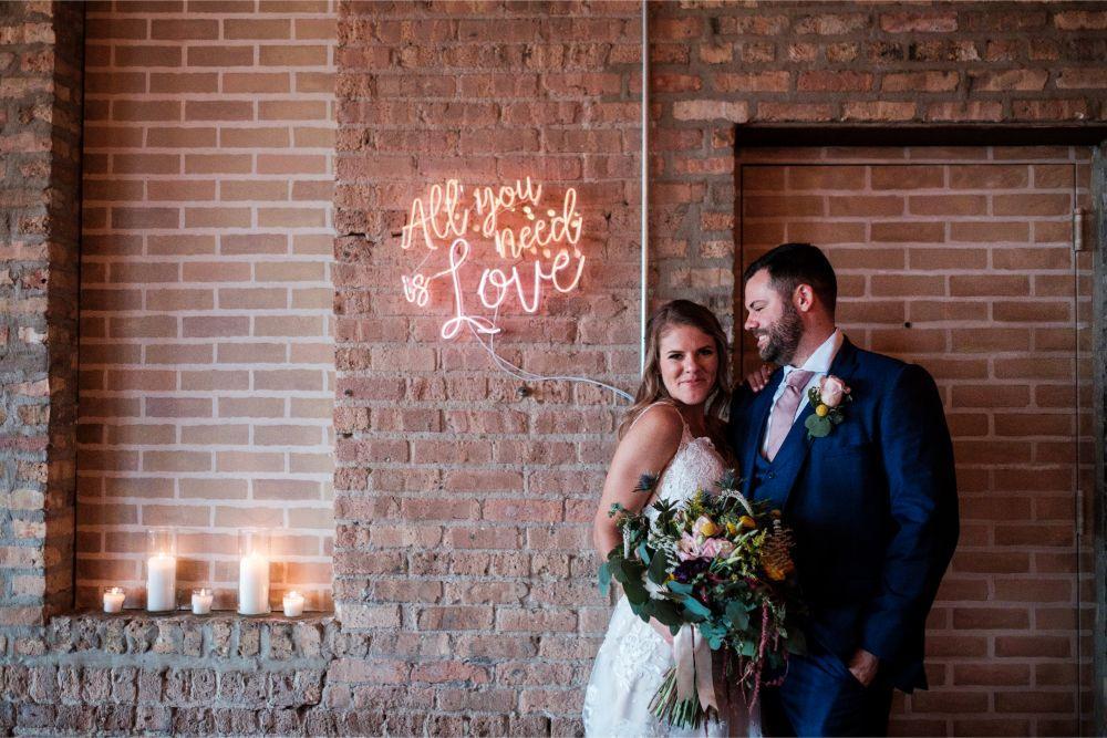local love kaitlyn tom lacuna lofts chicago, il wedding bride groom