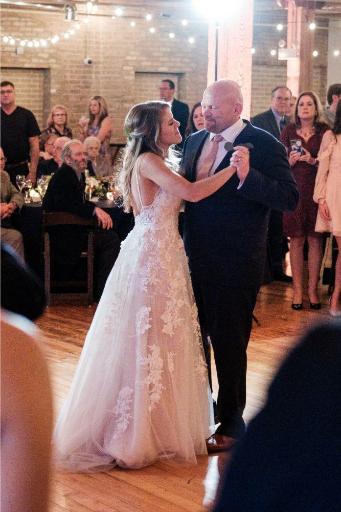 local love kaitlyn tom lacuna lofts chicago, il wedding father daughter dance