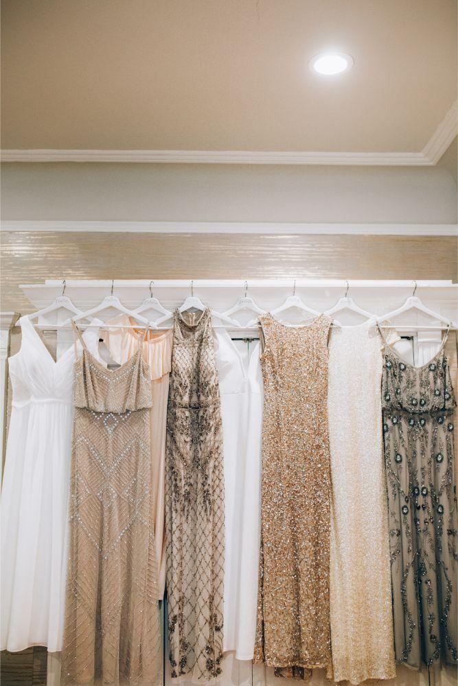 kathy michael skyline loft bridgeport art center chicago wedding bridesmaids dresses