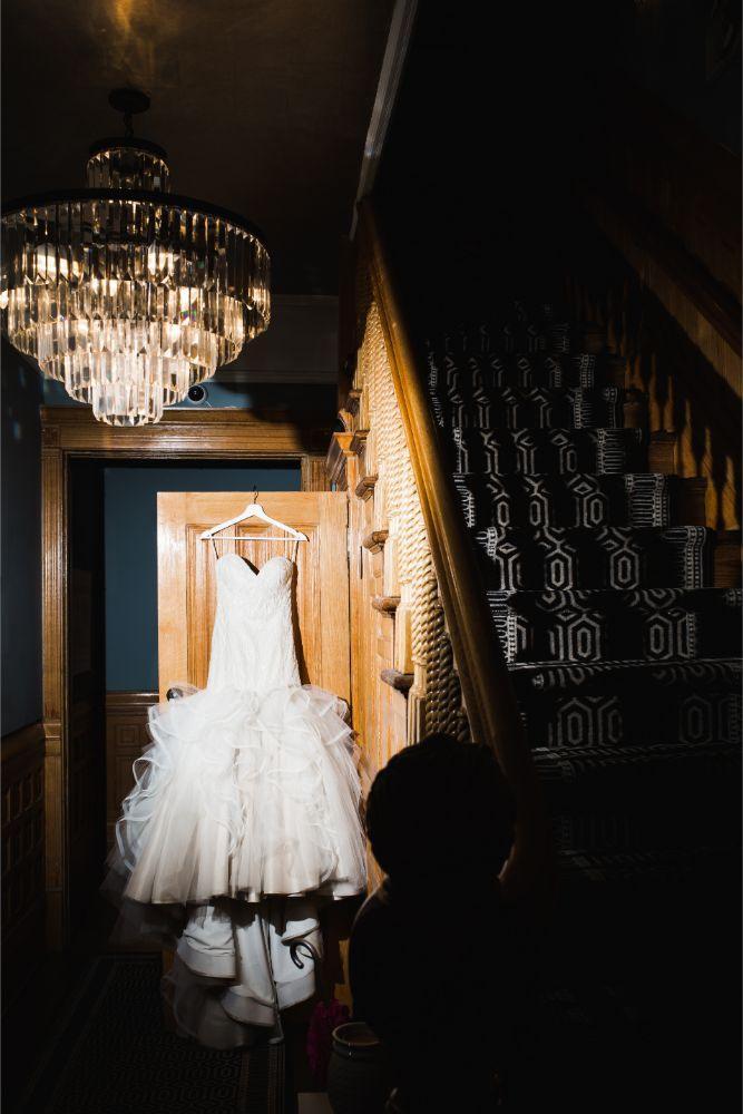 kathy michael skyline loft bridgeport art center chicago wedding dress