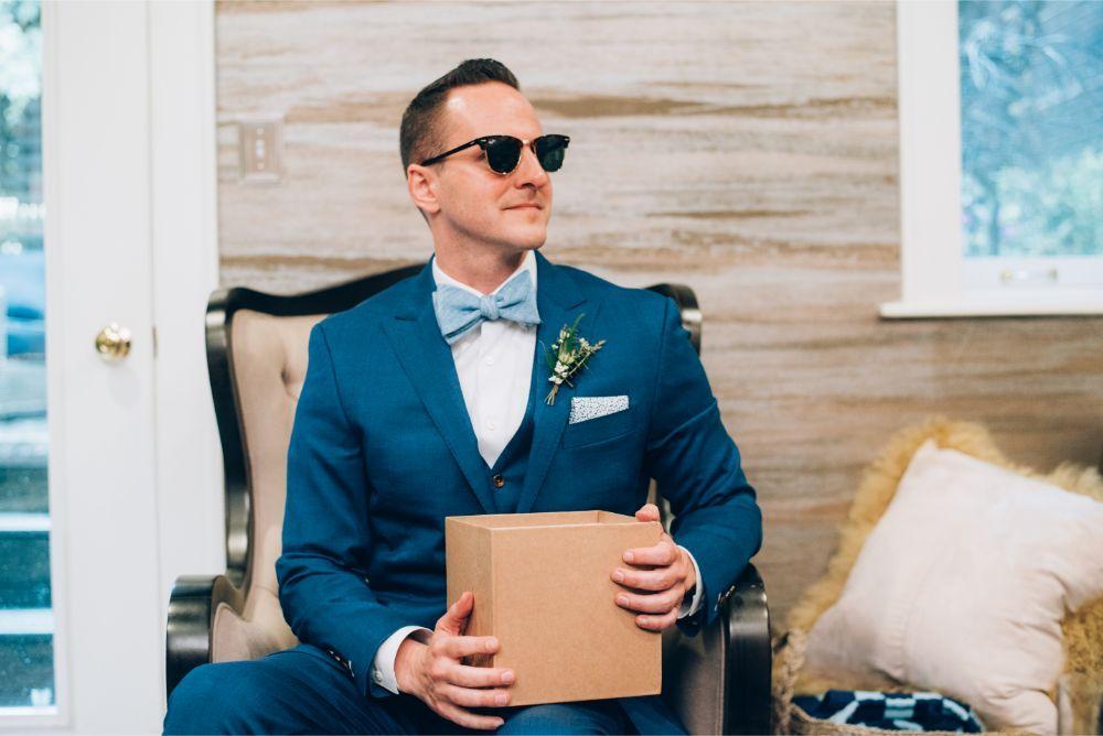 kathy michael skyline loft bridgeport art center chicago wedding groom getting ready