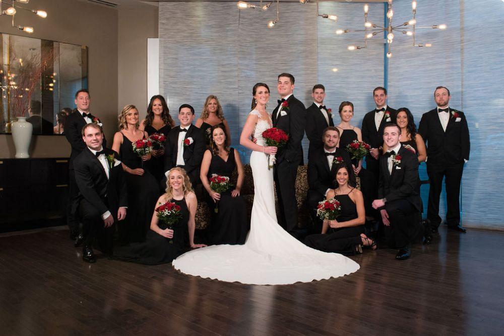 sarah chris galleria marchetti chicago, il wedding party