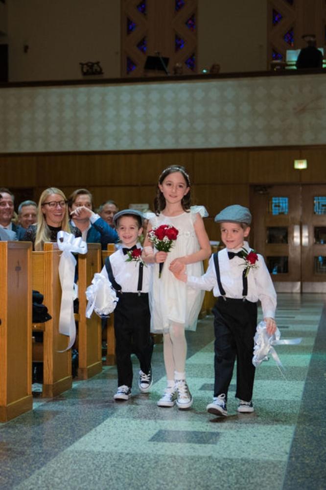 sarah chris galleria marchetti chicago, il wedding ring bearers flower girl