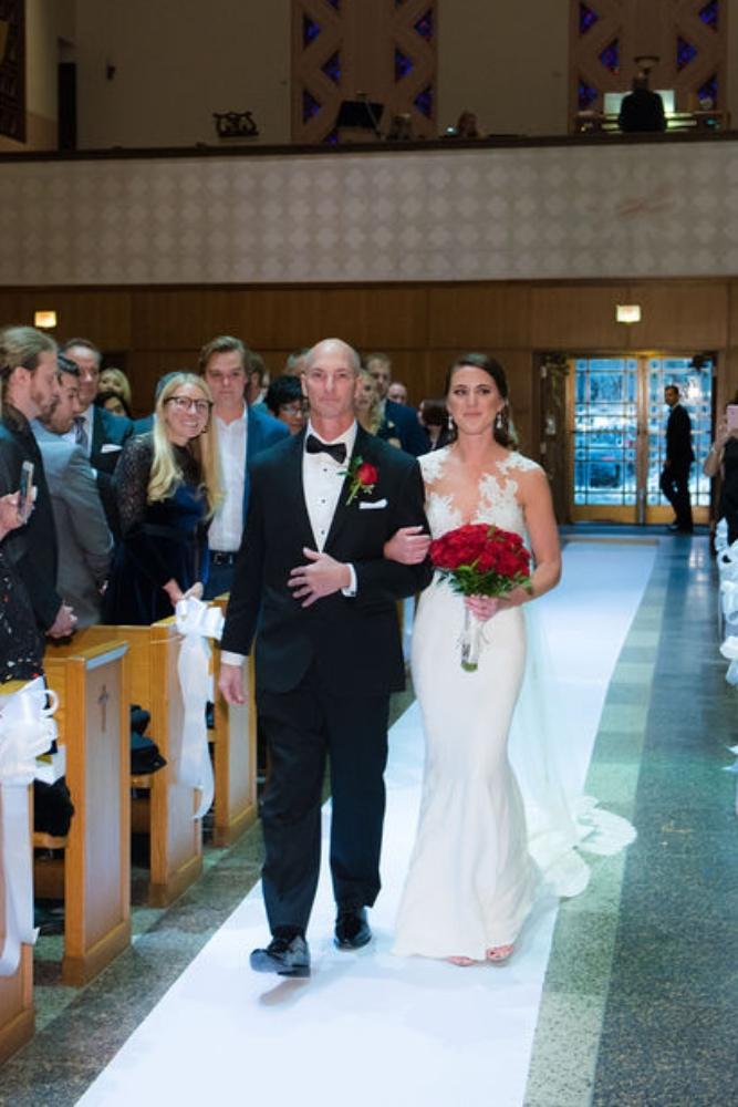 sarah chris galleria marchetti chicago, il wedding father walking daughter down aisle