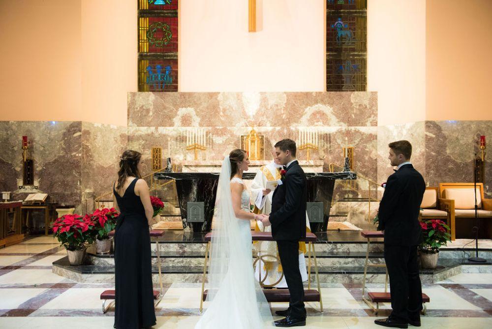 sarah chris galleria marchetti chicago, il wedding church ceremony