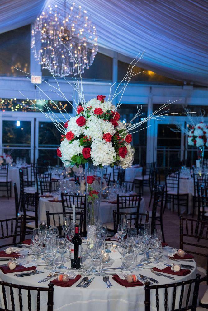 sarah chris galleria marchetti chicago, il wedding reception details floral centerpieces