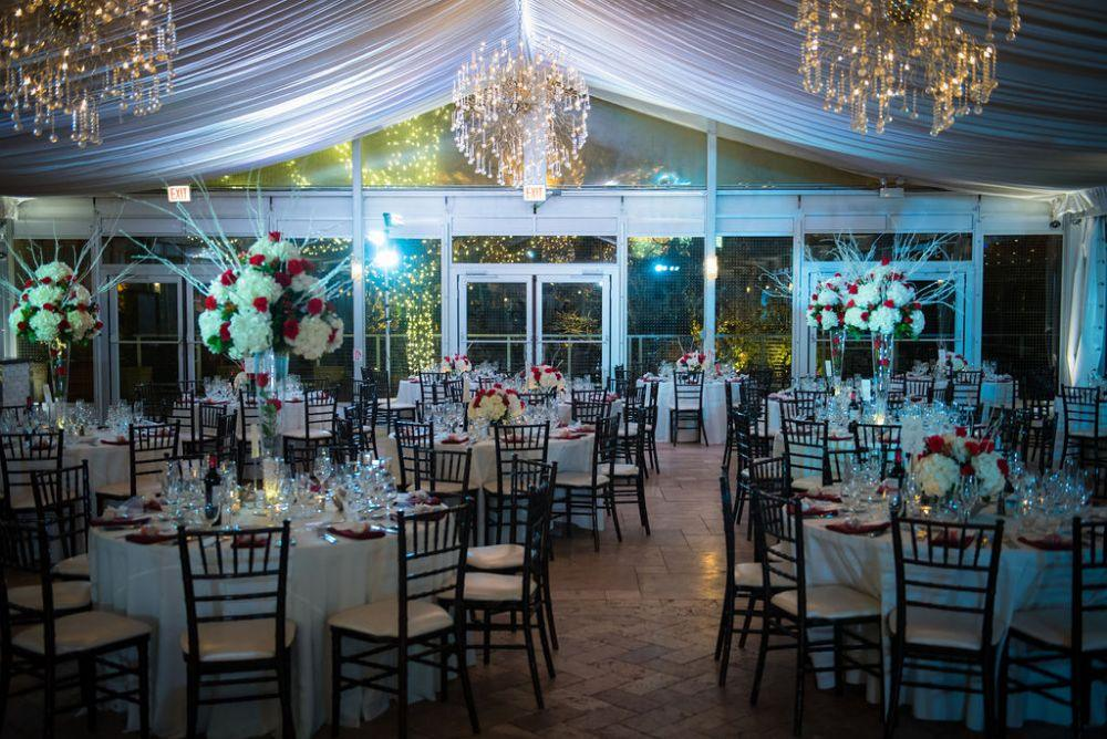 sarah chris galleria marchetti chicago, il wedding reception details