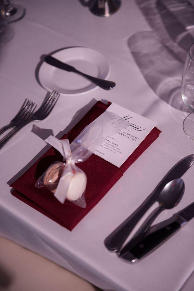 sarah chris galleria marchetti chicago, il wedding menu and macarons