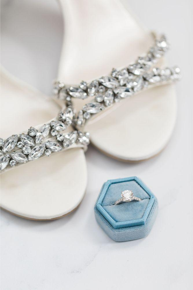 janet trent the mid-america club chicago, il wedding bridal shoes and ring details