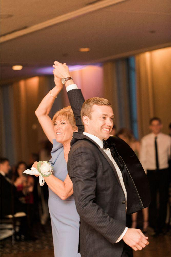 janet trent the mid-america club chicago, il wedding mother son dance