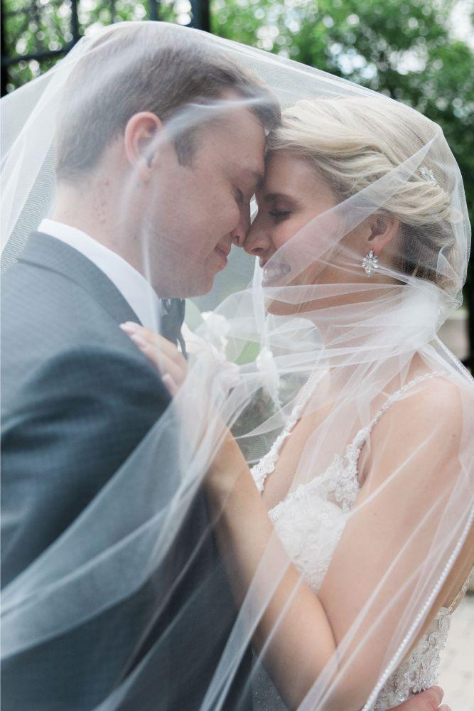 janet trent the mid-america club chicago, il wedding bride and groom veil picture