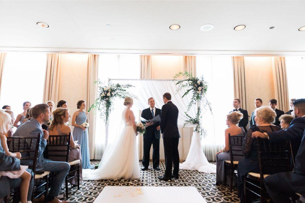 janet trent the mid-america club chicago, il wedding ceremony