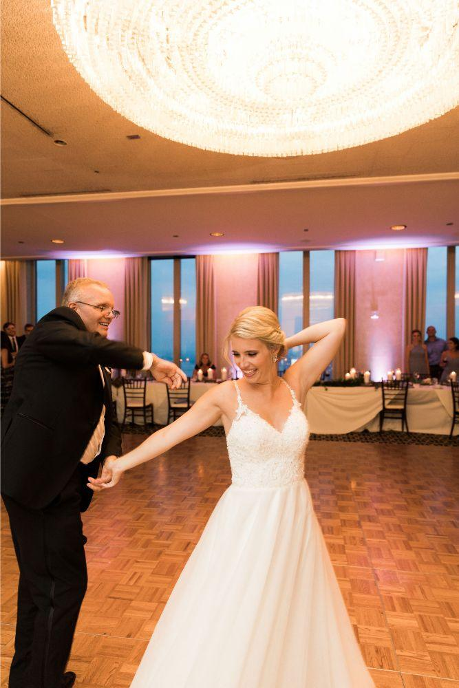janet trent the mid-america club chicago, il wedding father daughter dance