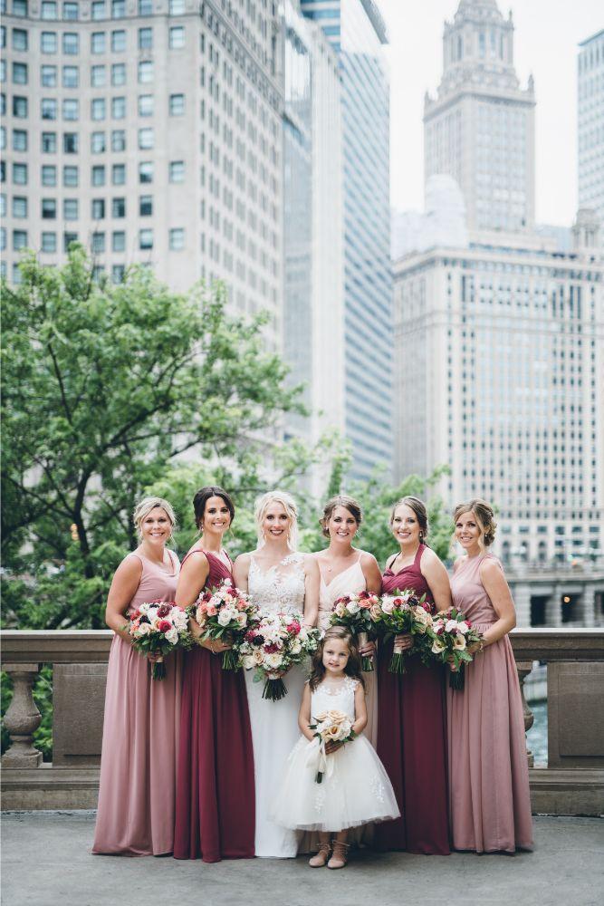 alison eric bridgeport art center chicago, il wedding bridesmaids