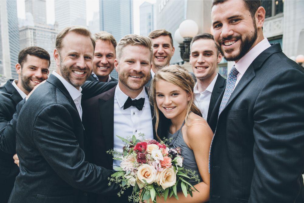 alison eric bridgeport art center chicago, il wedding groomsmen
