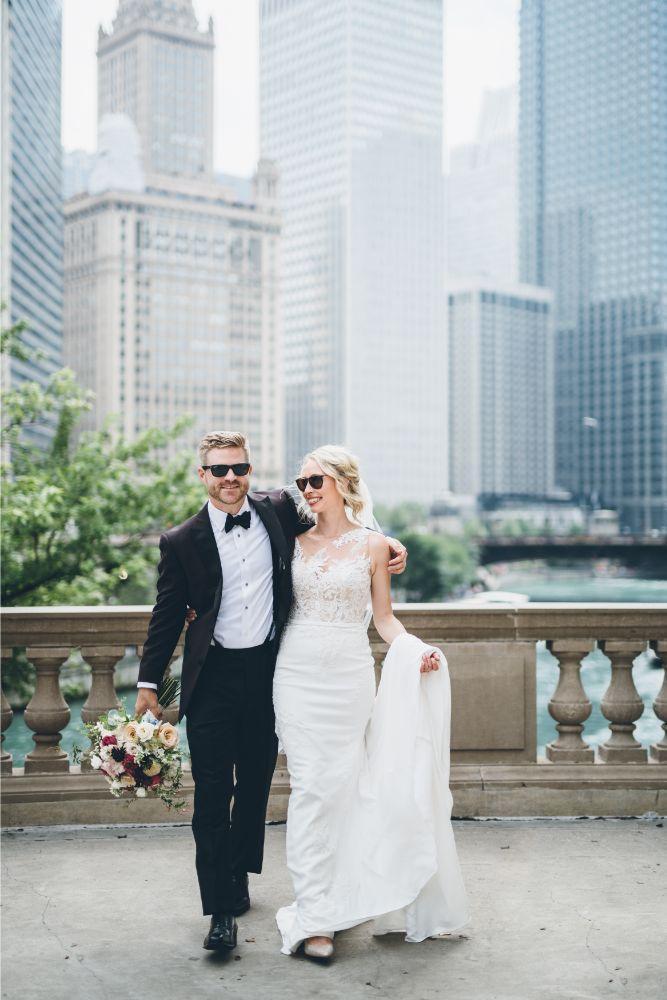 alison eric bridgeport art center chicago, il wedding bride and groom portraits