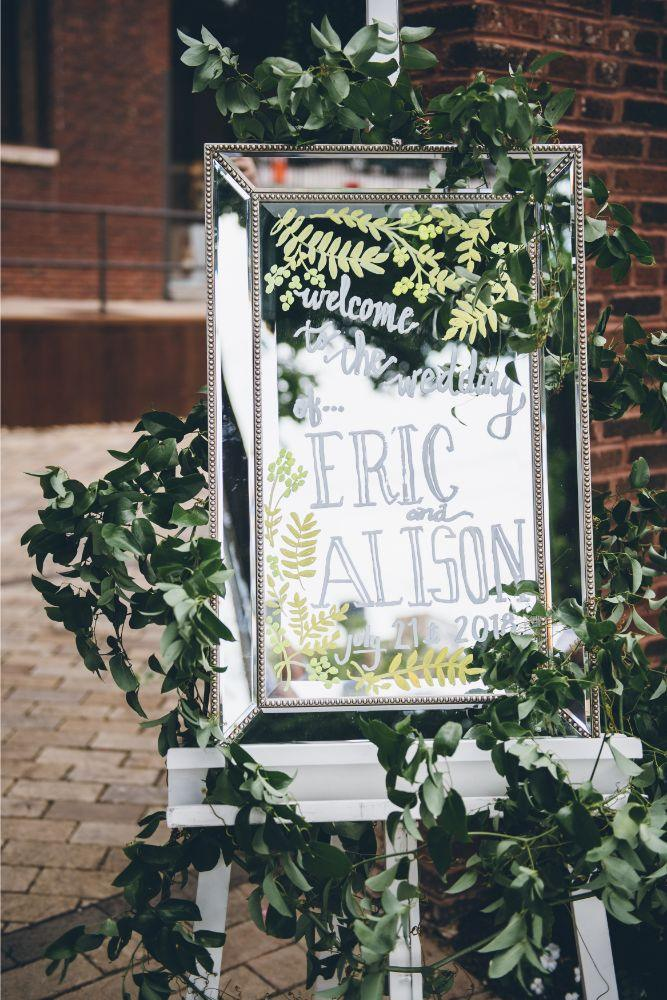 alison eric bridgeport art center chicago, il wedding ceremony decor