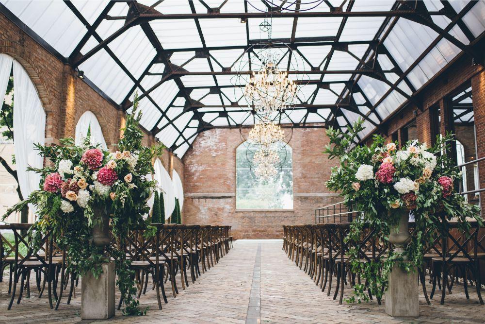 alison eric bridgeport art center chicago, il wedding ceremony