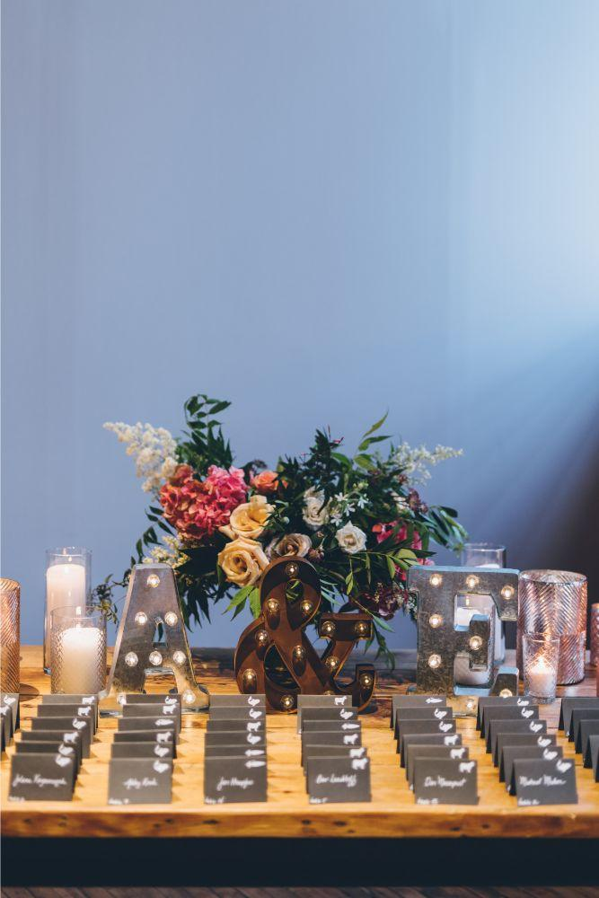 alison eric bridgeport art center chicago, il wedding reception decor