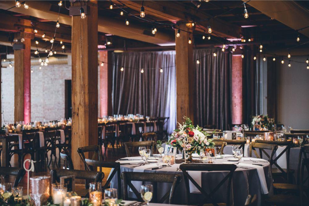 alison eric bridgeport art center chicago, il wedding reception details