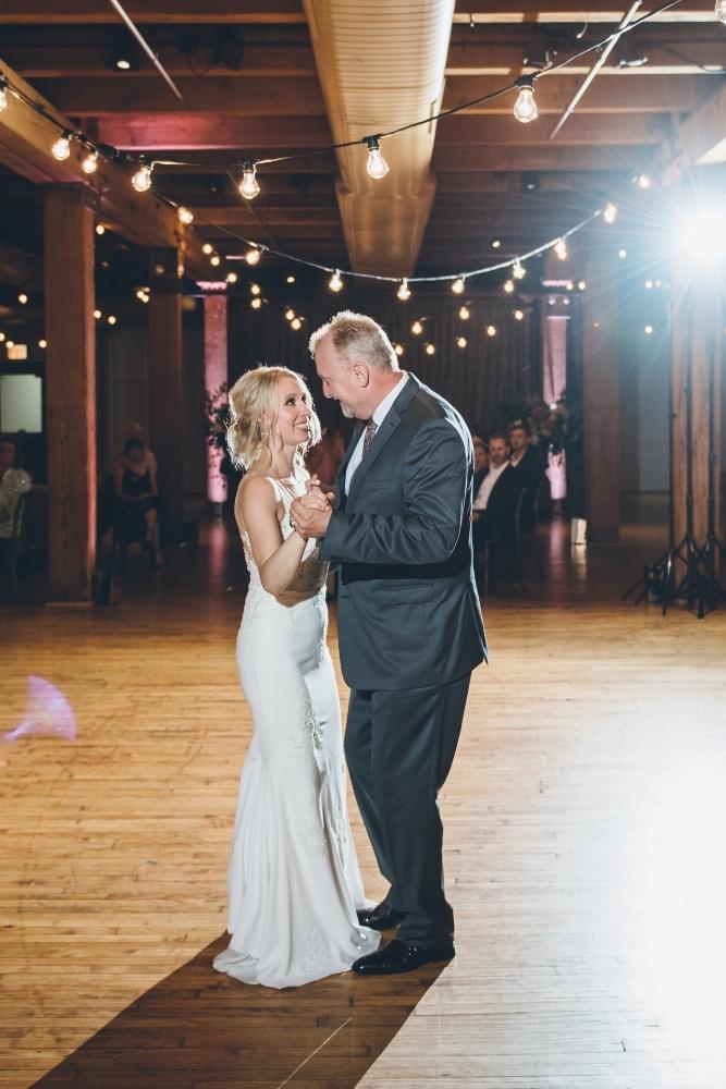 alison eric bridgeport art center chicago, il wedding father daughter dance