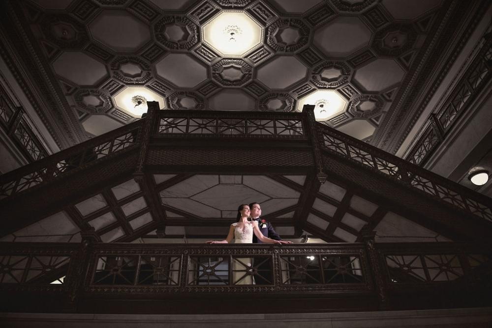 sarah chris galleria marchetti chicago, il wedding