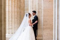 abby ian Union League Club of Chicago bride and groom portrait