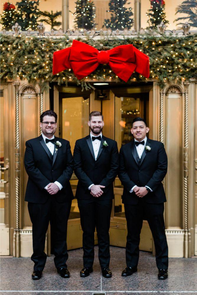 emily nick artifact events chicago, il wedding groom and groomsmen