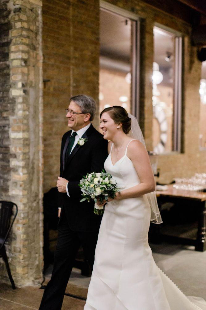 emily nick artifact events chicago, il wedding father walking daughter down aisle