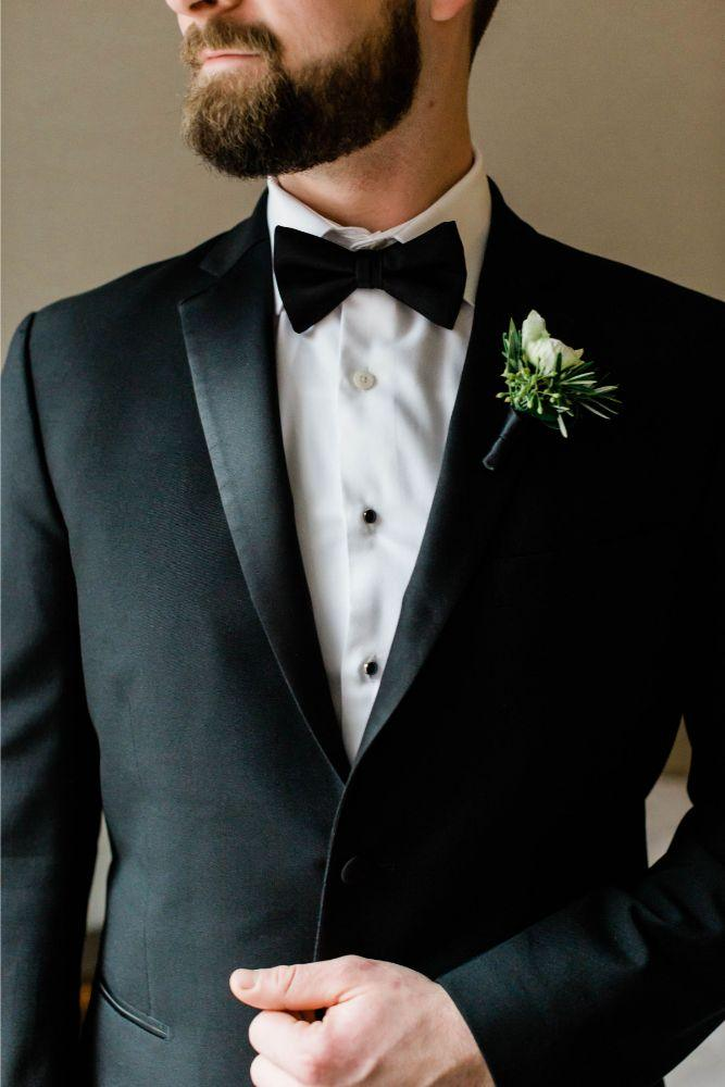 emily nick artifact events chicago, il wedding groom boutonniere