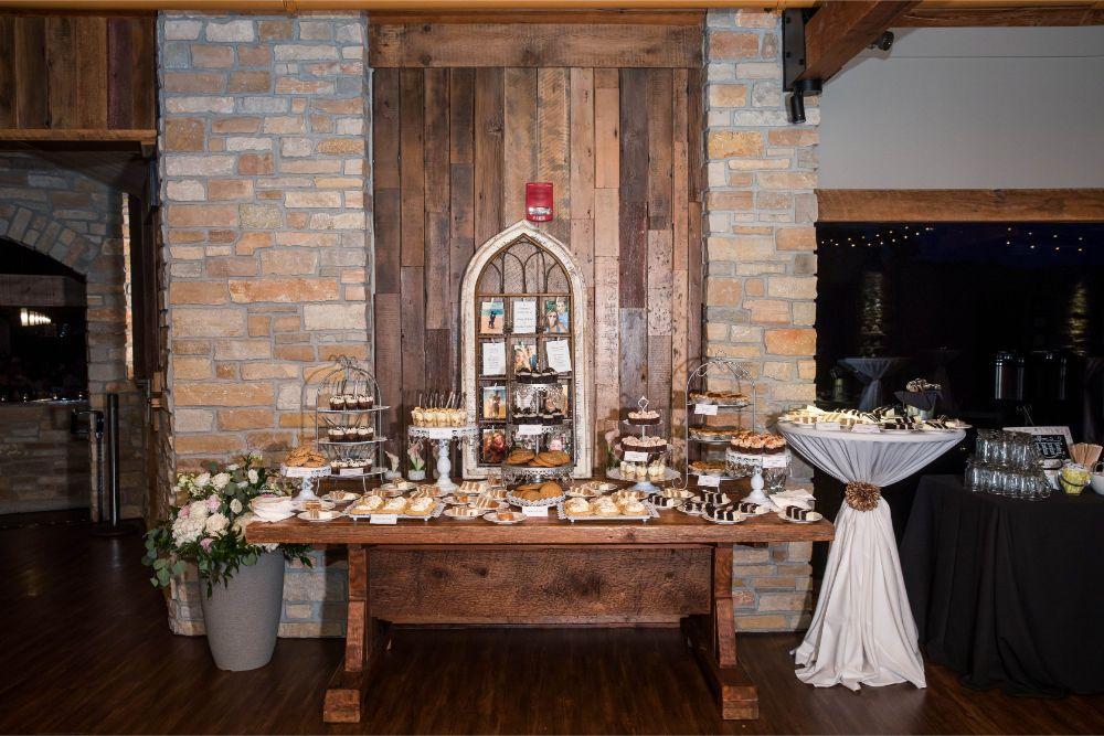 lindsay demetrius fisherman's inn chicago il wedding sweets table