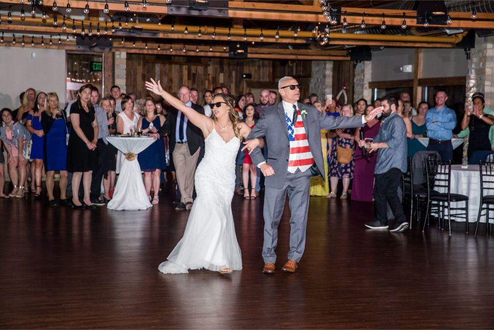 lindsay demetrius fisherman's inn chicago il wedding father daughter dance