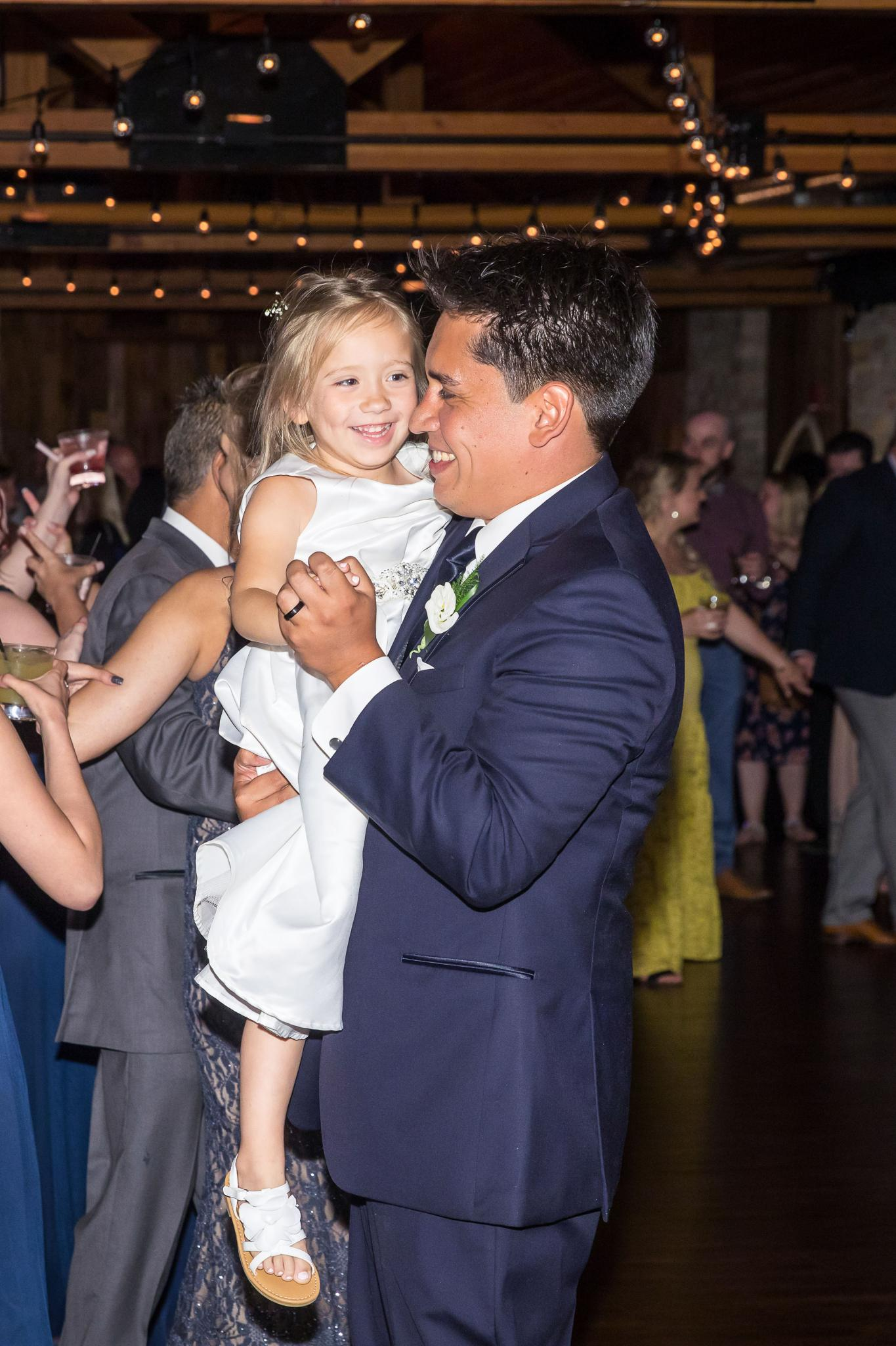 lindsay demetrius fisherman's inn chicago il wedding father walking daughter down aisle