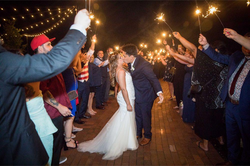 lindsay demetrius fisherman's inn chicago il wedding fireworks exit