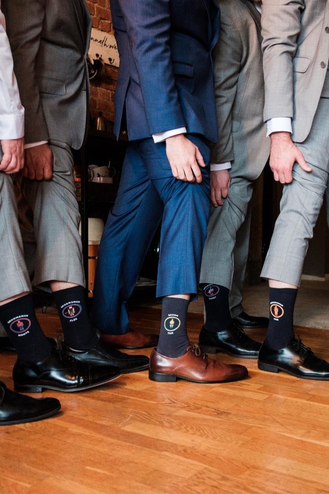 local love kaitlyn tom lacuna lofts chicago, il wedding groomsmen socks