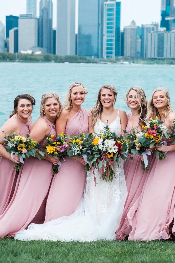 local love kaitlyn tom lacuna lofts chicago, il wedding bridesmaids