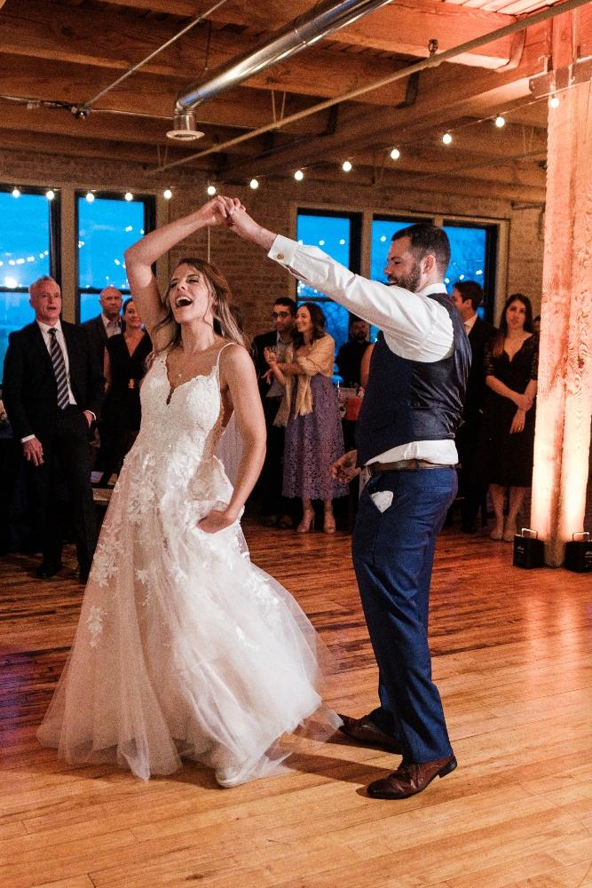 local love kaitlyn tom lacuna lofts chicago, il wedding bride groom first dance